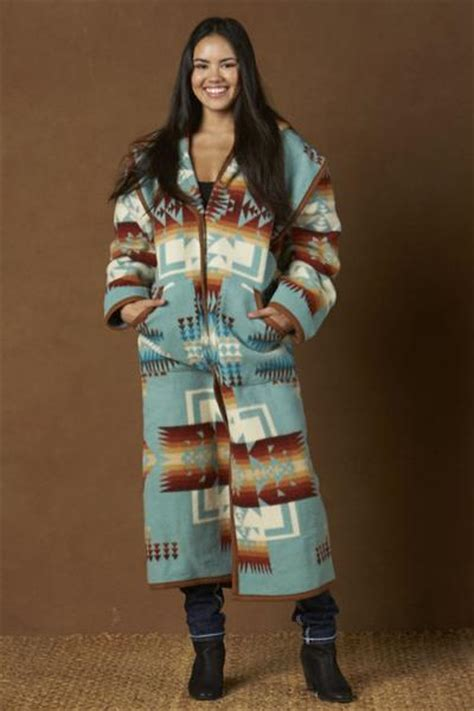 Reversible Long Coat, Aqua Chief Joseph – Kraffs Clothing