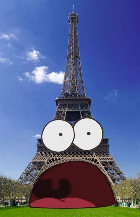 Patrick Star Meme Is The Eiffel Tower